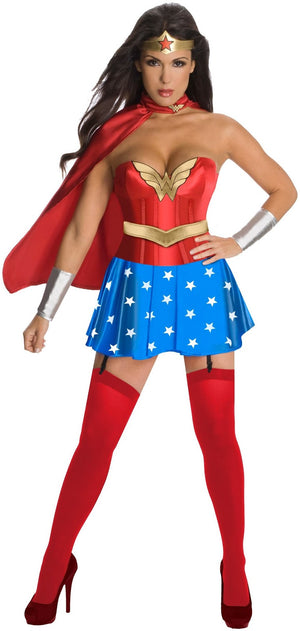 Wonder Woman With Corset Costume - (Adult)