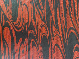 Red Swirl Cosplay Fabric - Stretch
