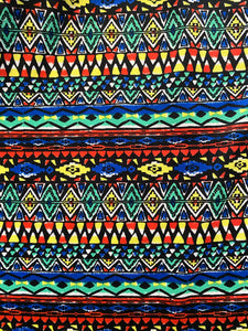 Colorful Tribal Fabric - Stretch