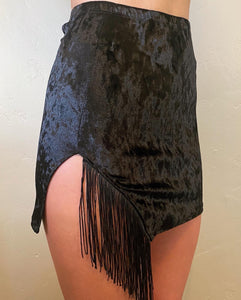Destiny Slit Skirt with Fringe