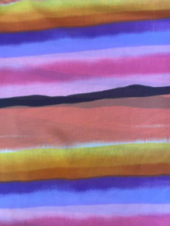 Sunset Sheer Stripe Fabric - Non Stretch