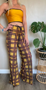 Cherie Palazzo Pants in Plaid