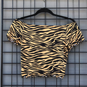 Tiger Sweetheart Top
