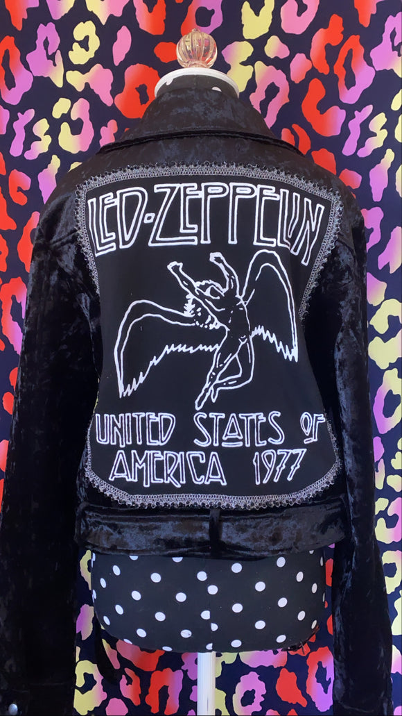 Led Zeppelin Moto Jacket in Velvet