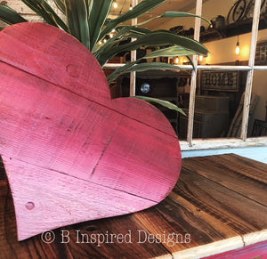 Reclaimed Wood Hearts - Small