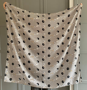 Dotty Leopards Baby Swaddle Blanket