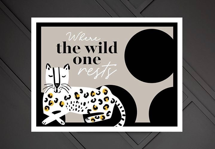 Hey Scandi Where the Wild One Rests Nursery Print