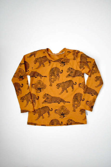 Caramel Leopards Long Sleeve Top