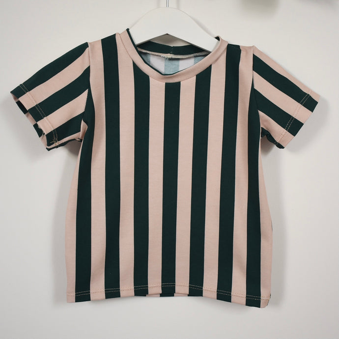 Snazzy Green Striped Children's T-Shirt