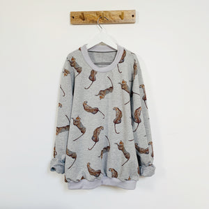 Adult Lazy Leopard Print Sweatshirt