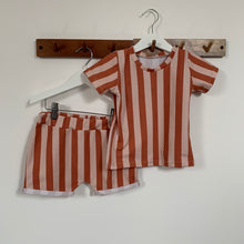 Jazzy Orange Striped Children's T-Shirt
