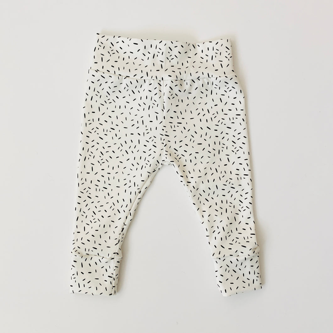 White Confetti Child & Baby Leggings