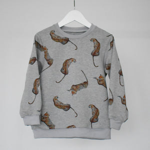Child & Baby Lazy Leopard Print Sweatshirt