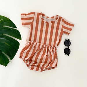 Jazzy Orange Striped Baby Bloomers