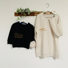Mama to a Little Human Oatmeal Organic Cotton Sweatshirt (20% of profits go to Home Start)