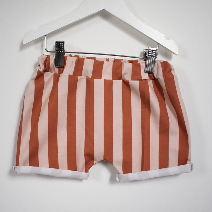 Jazzy Orange Striped Children's Shorts