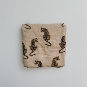 Majestic Tiger Muslin Square