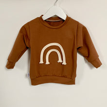 SOLD OUT - Caramel Latte Macrame Rainbow Sweatshirt