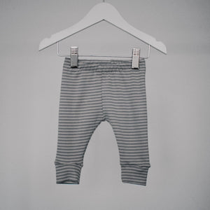 Grey Rib Stripe Baby Leggings