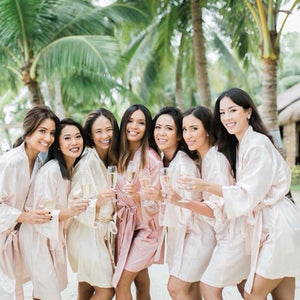 Blush Robes Wedding Entourage