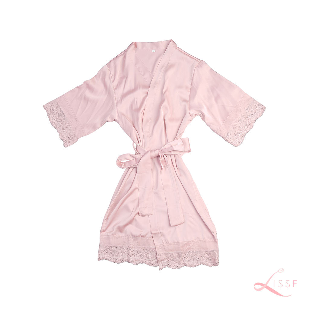Blush Classic Robe with Lace Trim (Kids)