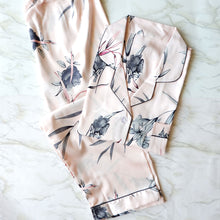Painted Gray Flowers Pajama Set