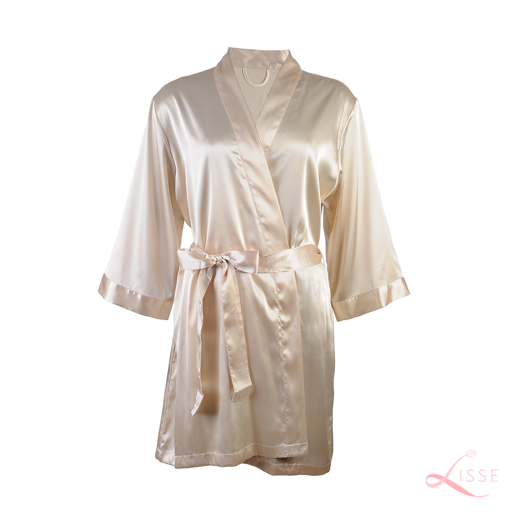 Champagne Gold Silk Bridal Robe