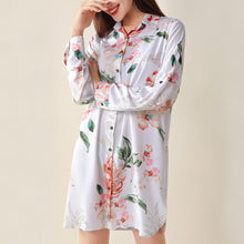 Cotton Floral Sleep Shirt Dress (3 colors)