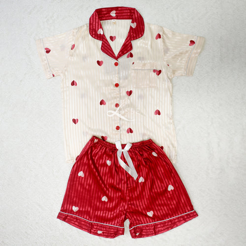 Hearts Short Pajama Set