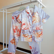 Blooming Peonies Short Sleeves Pajama Set (Lilac)