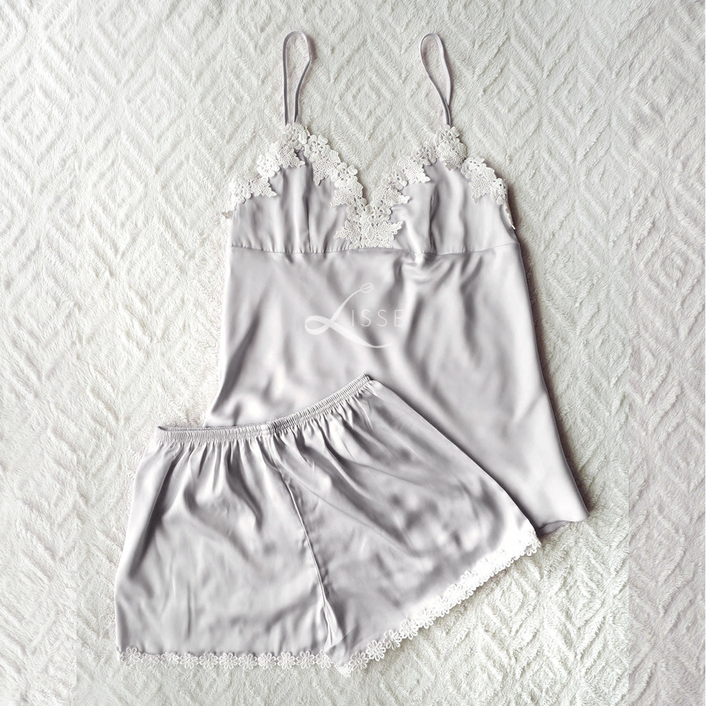 Daisy Cami Short Set (Grey)