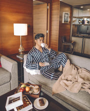 David Guison Navy Stripes Pajamas