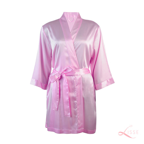 Pink Silk Bridal Robe