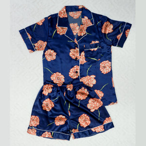 Floral Sketch Short Pajama Set