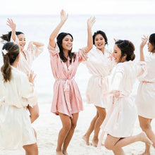 Blush Silk Robe Bridesmaids