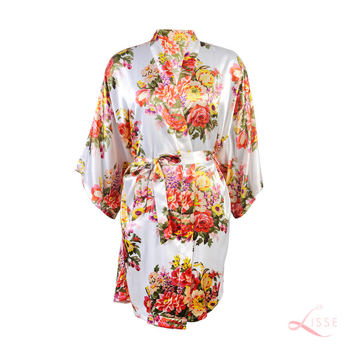 Pearl Kimono with Floral Print