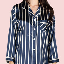 Navy Stripes Long Pajama Set (His or Hers)
