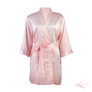 Peach Silk Bridal Robe