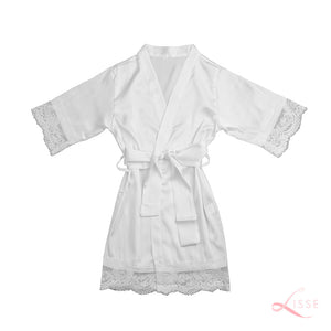 Pearl Classic Robe with Lace Trim (Kids)