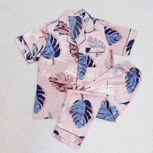 Pink Monstera Short Sleeves Pajama Set