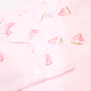 Watermelon Long-Sleeved Cotton Pajama Set