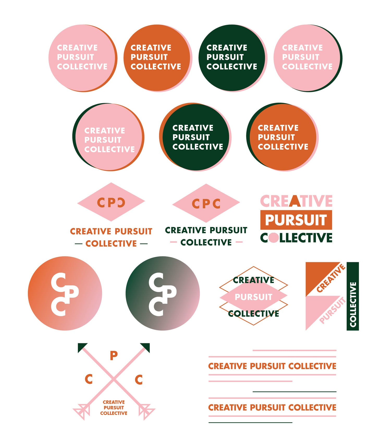 CREATIVE PURSUIT COLLECTIVE | LOGO DESIGN P. 1