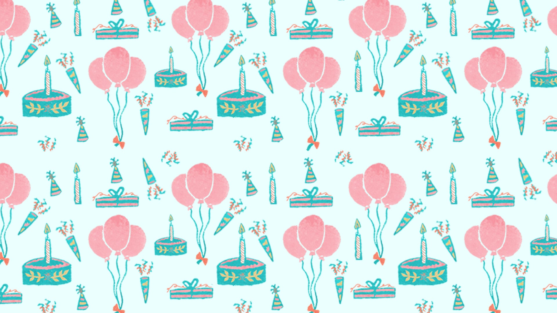Free Zoom Birthday Themed Background