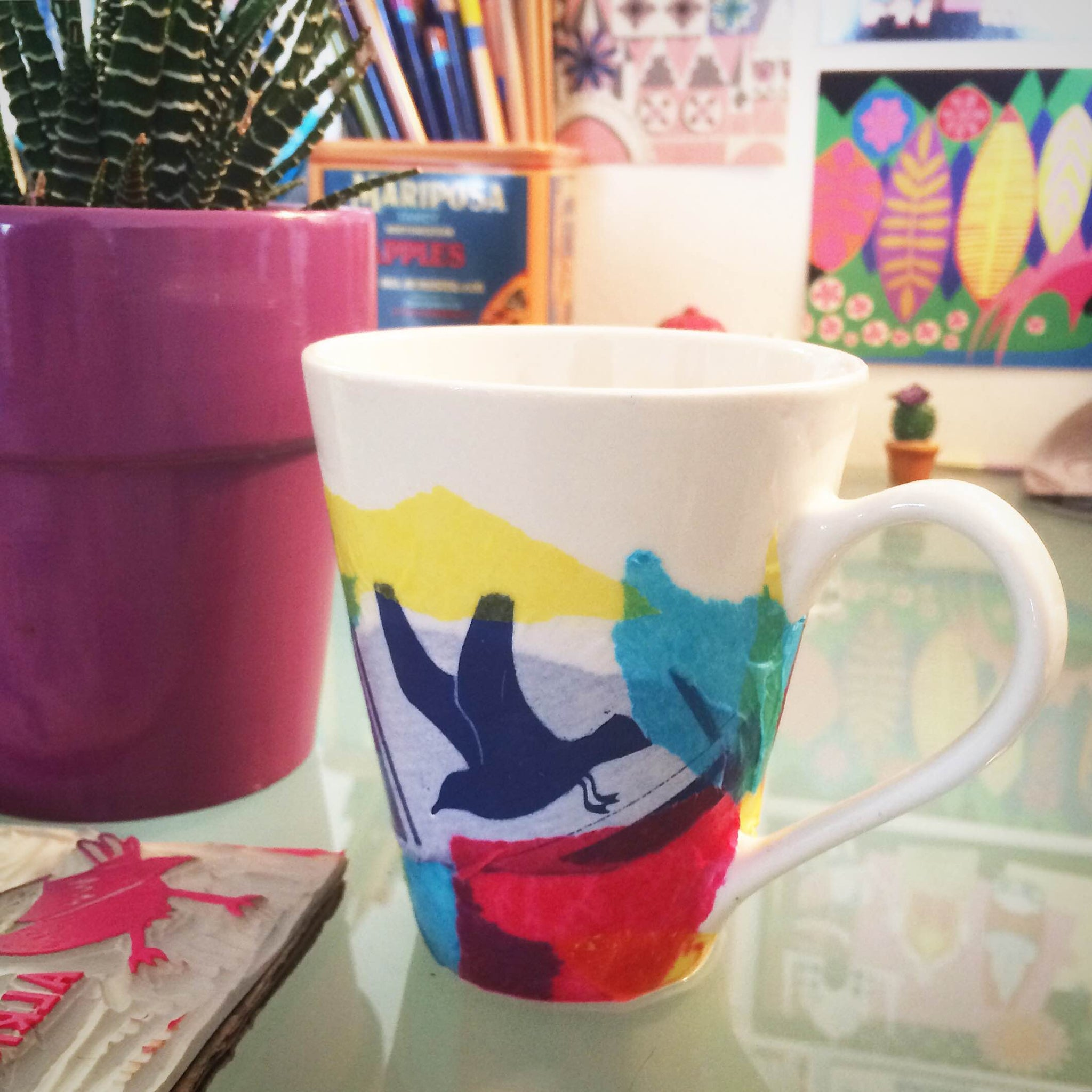 CRAFTERNOON : WATERCOLOR TISSUE MUGS