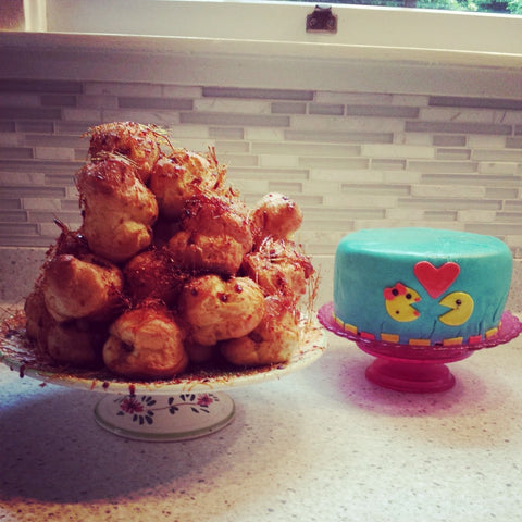 pacman cake and corquembouche by caballito