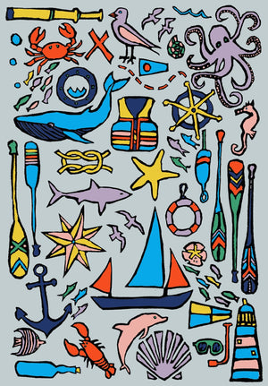 Nautical Coloring Page Digital Download