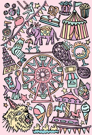 Carnival Coloring Page Digital Download