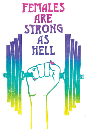 Females are Strong as Hell - detail of design