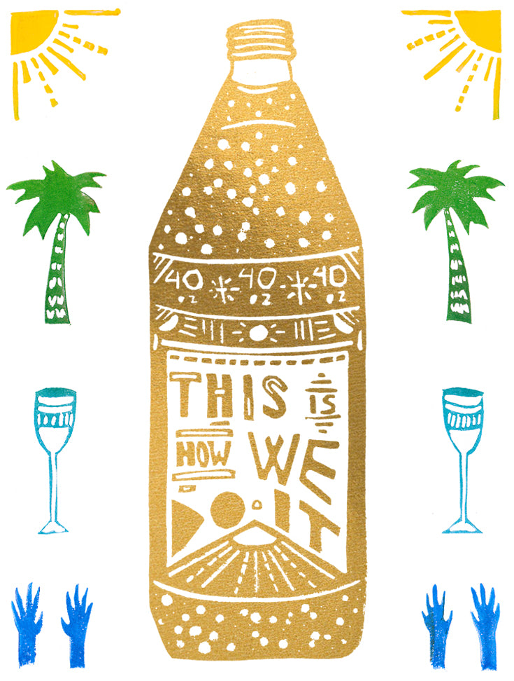 This Is How We Do It Greeting Card 6-Pack Inspired By Music