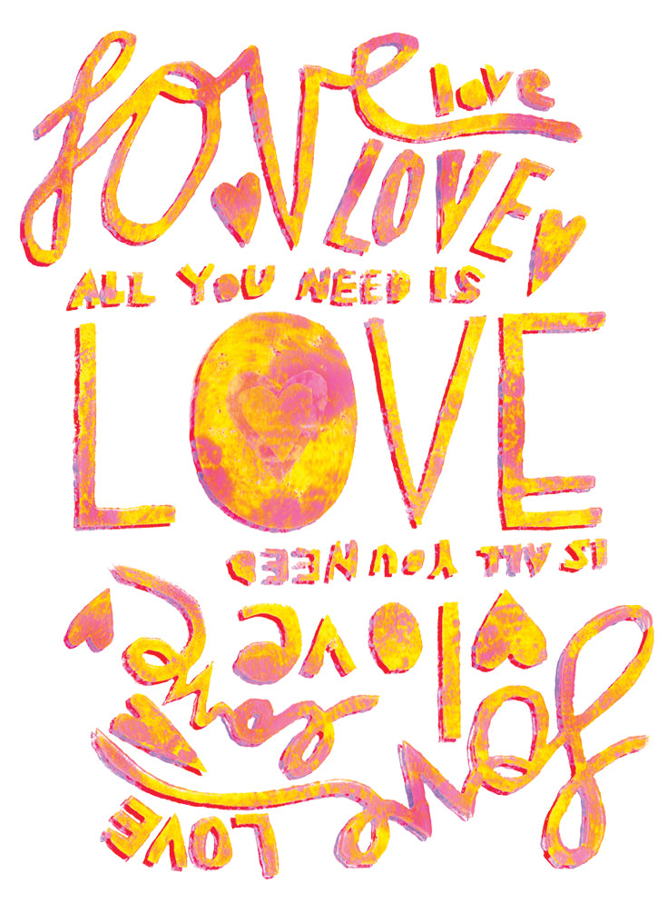 All You Need Is Love Love Is All You Need Greeting Card 6-Pack Inspired By Music